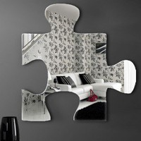 Graham &amp; Brown Acrylic Shaped Mirror - Jigsaw Mirror - 16&quot; X 16&quot; - 42928 - All Wall Art - Wall Art &amp; Coverings - Decor