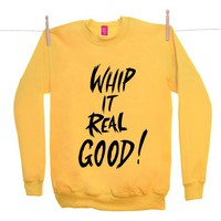 Street Market — Ohh Deer - Whip it Real Good - Yellow Sweater By Lynnie Zulu