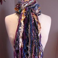 Fringie in Wonderland - All Fringe Scarf - Multitextural handtied fashion scarf or photo prop
