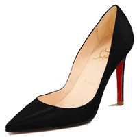 christian louboutin Leather pumps black CL02129 - $108.00