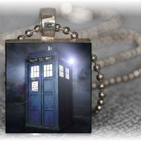 Dr Who The Tardis Time Space Travel Scrabble Tile by ASnailsPace