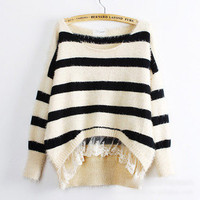 Fashion Fur Lace Sweater❤Korean women Japan/Korea top japanese blouse top S-M