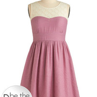 Plum Rose Dress | Mod Retro Vintage Dresses | ModCloth.com