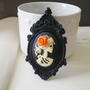 Gothic Wedding Skeleton Cameo Necklace by mysweetn0vember on Etsy