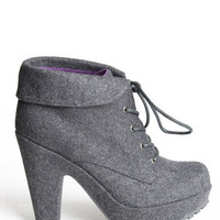 Vance Gray Flannel Bootie by Blowfish - $62.00 : ThreadSence.com, Your Spot For Indie Clothing & Indie Urban Culture