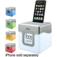 iHome - Color-Changing Alarm Clock Speaker for Apple® iPhone® and iPod®