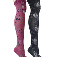 DITZY PUNK OVER THE KNEE SOCKS - Betsey Johnson