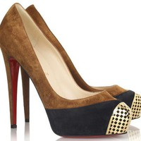 Christian Louboutin david delfin suede and leather pump-