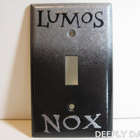 Harry Potter -  Lumos Nox Silver and Black Standard Light Switch Plate