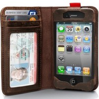 Apple IPhone 4 / 4s Leather Noteboo.. on Luulla
