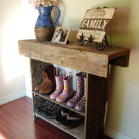 Farm House Entry Table Console Table Wall Table by birdcottage