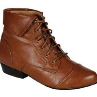 Amazon.com: Indy-11, tan, women&#x27;s lace up flat booty, R11, size: Shoes