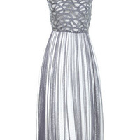 Silver Sheer Cornelli Maxi Dress - View All  - Dress Shop