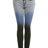 Dip Dye Ultra Soft Skinny Jean - Jeans & Denim  - Apparel