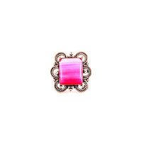 Square Pink Stone Cocktail Ring - Indiverve Retail Company Inc.