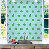Wallcandy Arts Wallpaper Apples Blue/Green