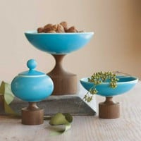 Porcelain and Walnut Bowls - VivaTerra