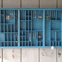 Turquoise Letterpress Tray Jewelry Display