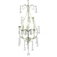 Light Green 3-Arm Pear Chandelier