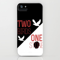 2 birds 1 stone iPhone Case by Sophie Calhoun | Society6