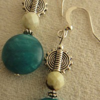 Dream Of Blue Agate Earring