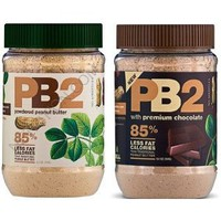 PB2 Powdered Peanut Butter and Powdered Cocoa Peanut Butter - 85% Less Fat and Calories - 6.5 Oz Each - 2 Pack