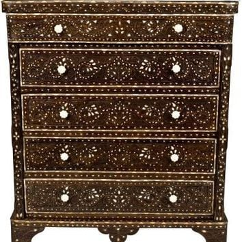 One Kings Lane - David Dalton - 5-Drawer Syrian Wood Chest