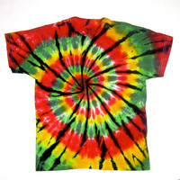 ON SALE: Child Large/ Tie Dye Shirt/ Rasta Spiral