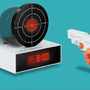 Bandai Gun O'Clock - SHOOT YOUR ALARM CLOCK TO SILENCE- SWWET GIFT: Toys & Games