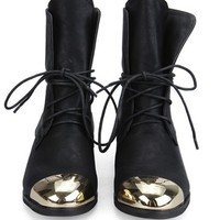 OASAP - Lace up Metal Toecap Boots - Street Fashion Store