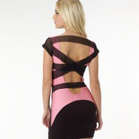 Quontum Mesh Strappy Back Dress - Lipsy