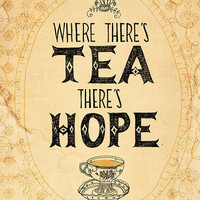 tea and hope 5x7 archival art print by lovelysweetwilliam on Etsy