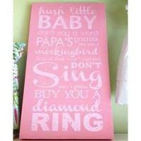 Hush Little Baby... Wooden Wall Board