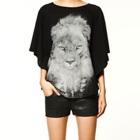 CAPE T-SHIRT - Collection - T-shirts - Collection - TRF - ZARA United States