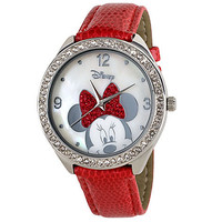 Disney Red Strap Minnie Mouse Watch for Women | Disney Store