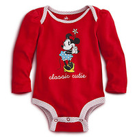 Minnie Mouse Disney Cuddly Bodysuit for Baby - Red | Disney Store