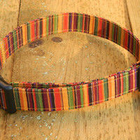 Large/XL Spice Market Stripes Dog Collar