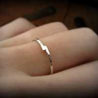 Bypass ring - recycled sterling silver ring