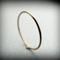 Recycled 14K rose gold ring - extra skinny stacking ring