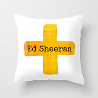 Ed Sheeran Plus Sign  Throw Pillow by Toni Miller | Society6