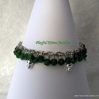 O Christmas Tree Crystal Bracelet