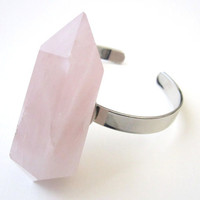 BLACK FRIDAY. Rose Quartz Bracelet. Crystal Quartz Cuff Bracelet. Cuff Bracelet. Bohemian. Gypset.