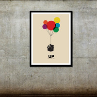 Up Disney Pixar Canvas Print Movie Poster 12x16