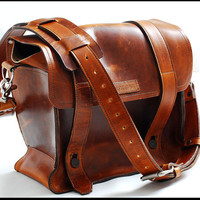 Satchel Leather bag for Men and Women in medium - Sand dune