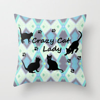 Crazy Cat Lady Throw Pillow by gretzky | Society6