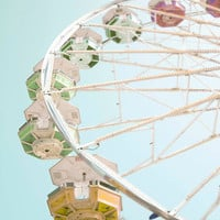 Nursery Decor Ferris Wheel Print Baby Boy by Maddenphotography