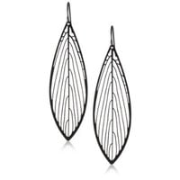 Nervous System Parallel Black-Plated Earrings - designer shoes, handbags, jewelry, watches, and fashion accessories | endless.com