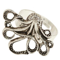 My Pet Octopus Ring | Mod Retro Vintage Rings | ModCloth.com