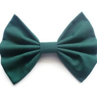 BIG Hair Bow - Big Green Hairbow