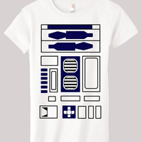 Womens R2D2 Tshirt Small Medium Large XL XXL by SandboxClothing
